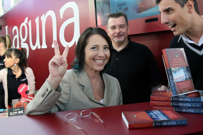 Kristina na promociji knjige