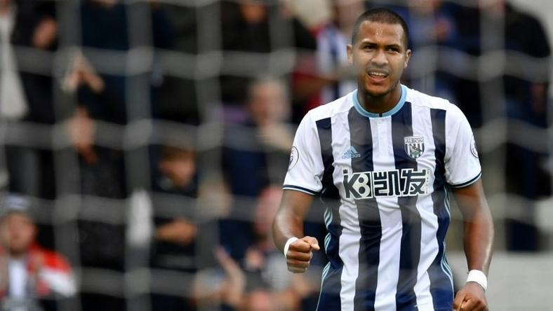 West Bromwich Albion's striker Salomon Rondon, seen in September 2016, set up a goal from James Morrison against Burnley November 21, 2016