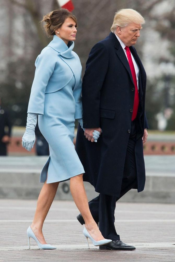 Melanija sa suprugom na inauguraciji 2017. godine