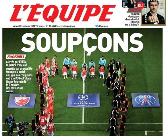 Naslovna strana prestižnog francuskog medija