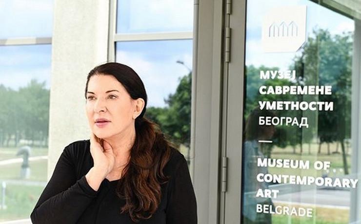 Marina Abramović Muzej savremene umetnosti prtscn