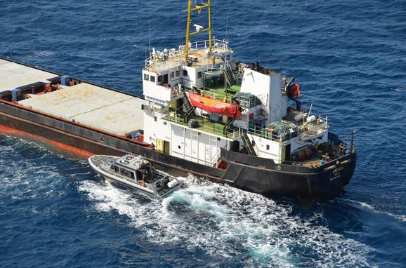 Brod na kom je zaplenjen kokain