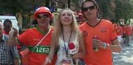 Holenderscy kibice dręczą ukraińską reporterkę