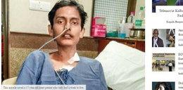 17-latek umierał, czekając na przeszczep. Wtedy stał się cud