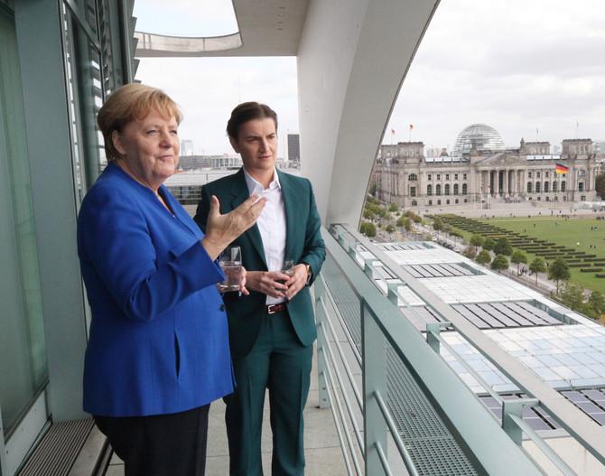 Razgovor Ane Brnabić i Angele Merkel