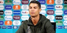 Euro 2020. Gniewny gest Ronaldo na konferencji prasowej przed meczem Węgry-Portugalia. Zezłościł się przez butelki [FILM]