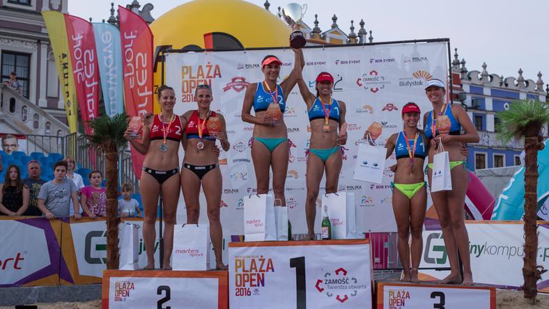 Plaża Open - podium