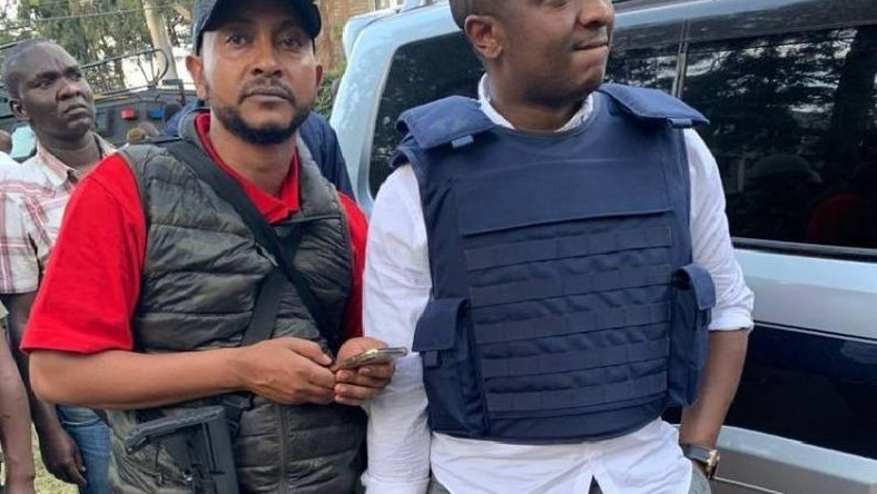 Drafton Mwitiki (L) with Steve Mbogo (R) at Dusit