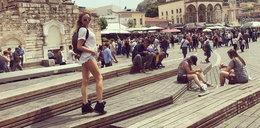 Polska modelka w Atenach. Nie pojechała sama...