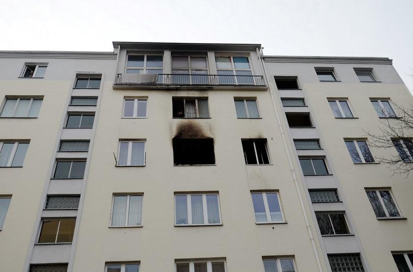 Pożar w bloku przy Legionów w Łodzi
