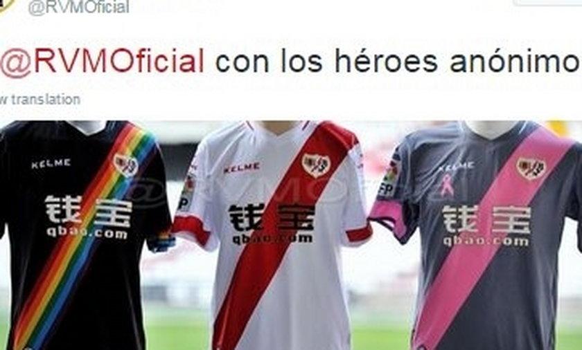 Rayo Vallecano zagra w nowych tęczowych strojach!