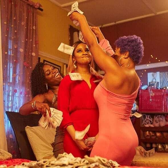 The Sugar Sisters played by Adesua Etomi, Bisola Aiyeola and Bimbo Ademoye [Sugar Rush Movie]