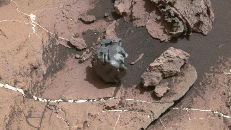 Meteoryt żelazny znaleziony na Marsie przez łazik Curiosity