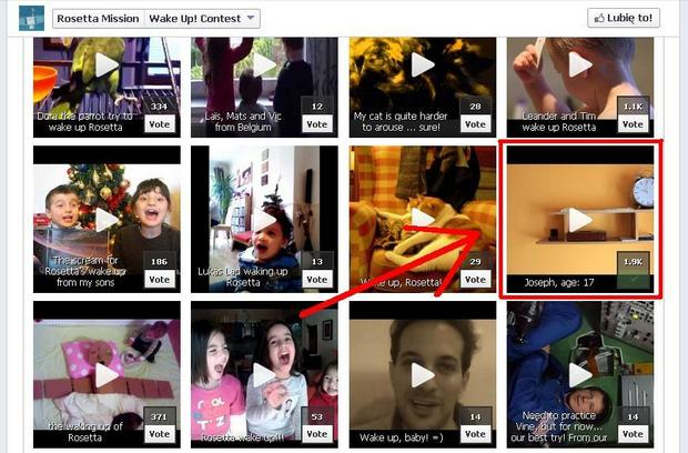 Wideo Józefa Dobrowolskiego na stronie Rosetty