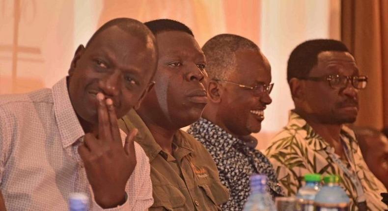 File image of DP William Ruto, Devolution CS Eugene Wamalwa, Senator James Orengo at a past event in Mombasa in 2018