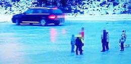 Porażające nagranie. Kierowca driftował na zamarzniętej rzece, obok były rodziny z dziećmi