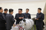 Kim Džong Un i bomba EPA KCNA