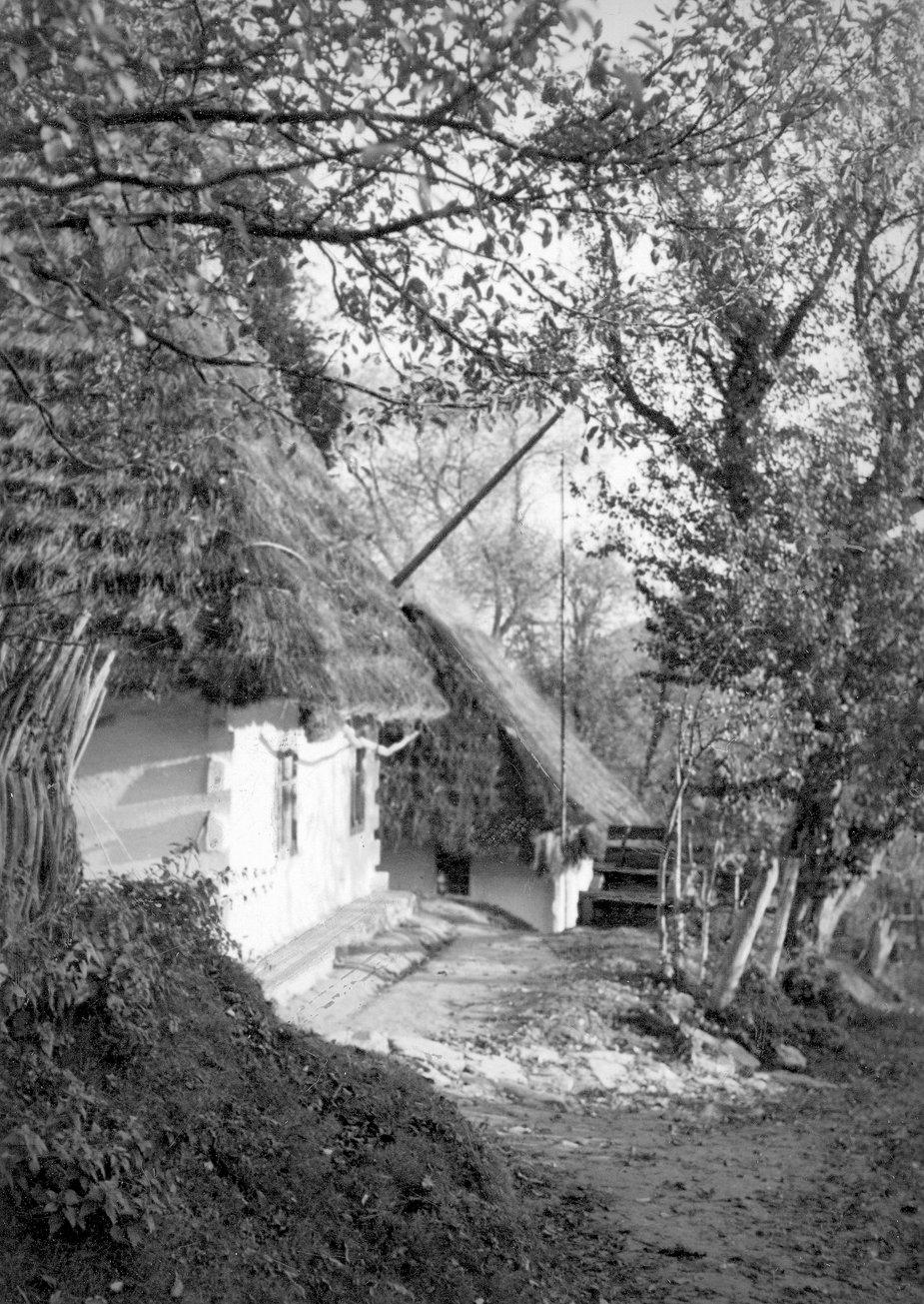Chaty Łemków w Bereźnicy Niżnej k. Soliny, 1939-1945 r.
