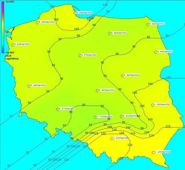Niewielkie stężenie rutenu-106 nad Polską