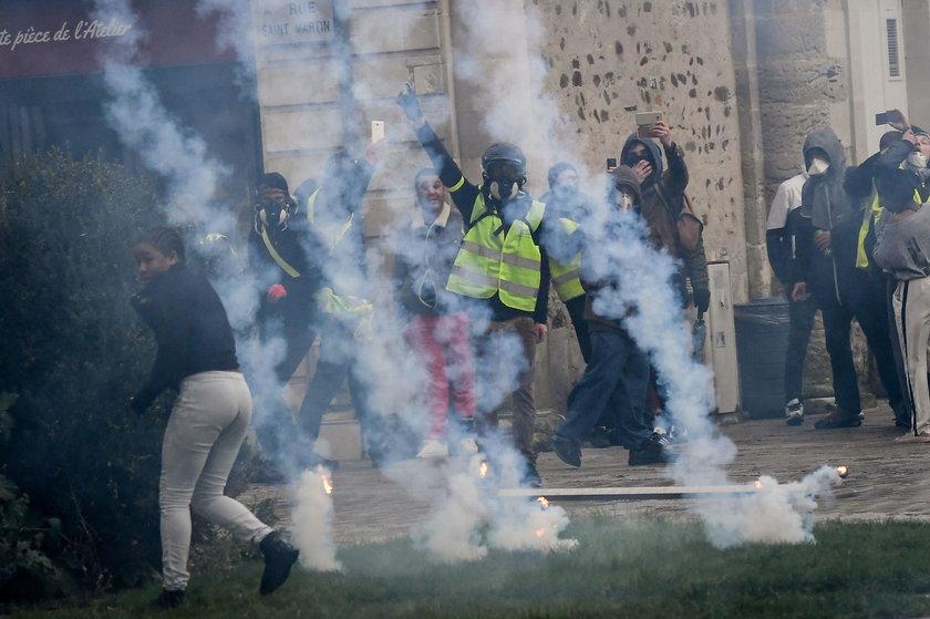 Francja protest.