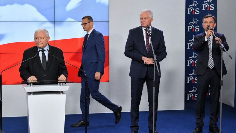 Mateusz Morawiecki, Jarosław Kaczyński, Zbigniew Ziobro, Jarosław Gowin