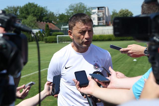 Miroslav Đukić na prvom treningu Partizana pred start sezone 2017/2018