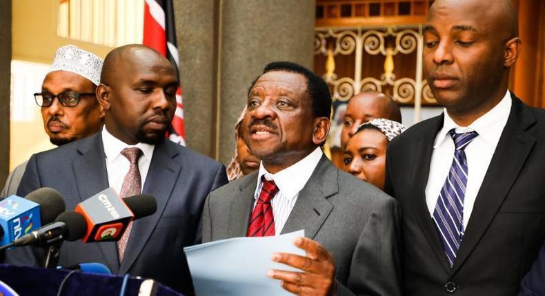 File iage of Senators James Orengo, Kipchumba Murkomen and Irungu Kang'ata