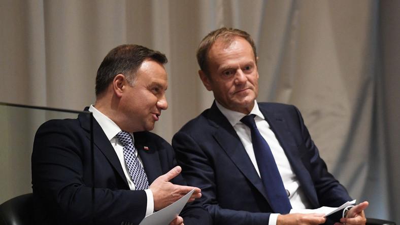 Donald Tusk i Andrzej Duda