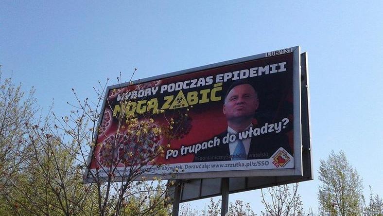 Jeden z billboardów