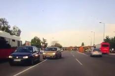 preticanje puna linija saobraćajni prekršaj Bulevar despota Stefana Beograd