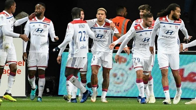 Memphis Depay carried Lyon to victory over Guingamp