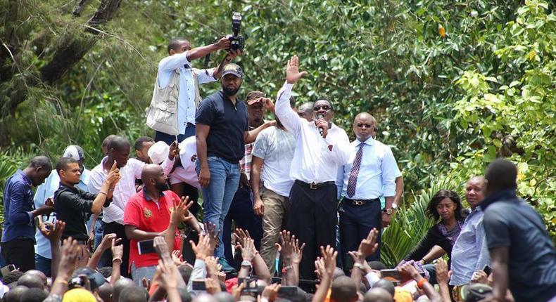 Mombasa Governor Hassan Joho and Senator James Orengo