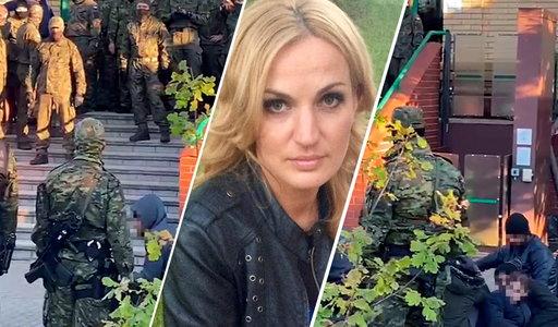 Dziennikarka Faktu jechała za autobusem pełnym imigrantów. Policja zatrzymała ją na trasie w stronę Krynek
