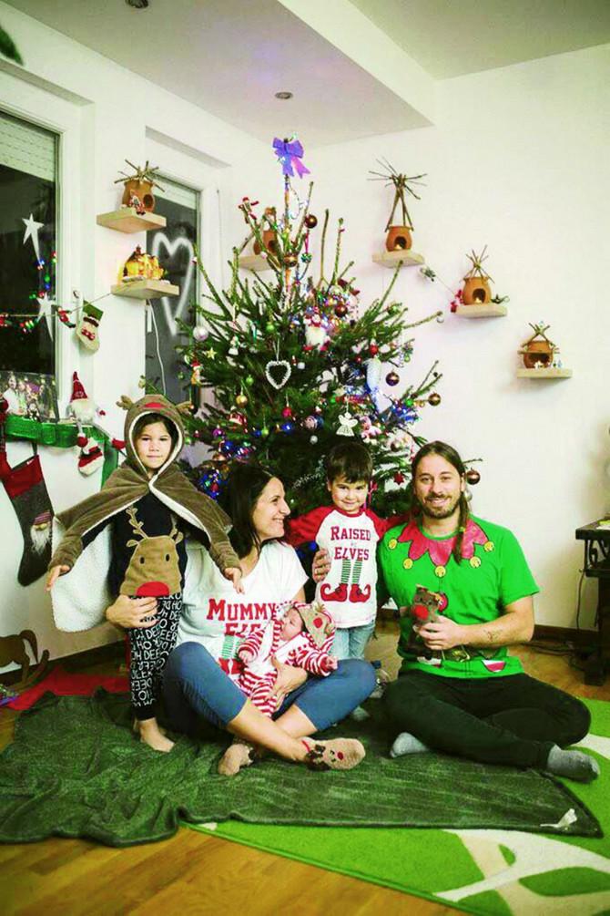 Maja sa decom i suprugom Nemanjom