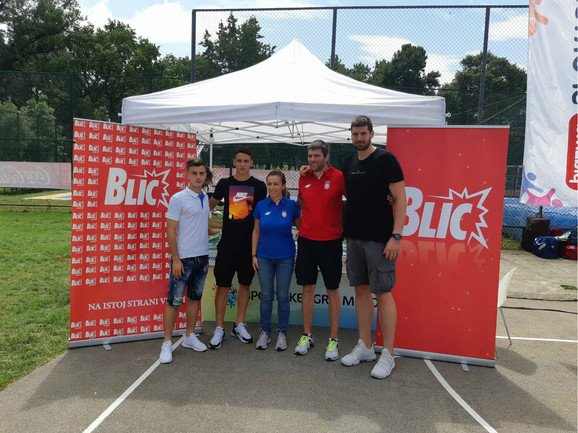 Armin Đerlek, Svetozar Marković, Andrea Arsović, Dimitrije Grgić i Đorđe Gagić na Sportskim igrama mladih