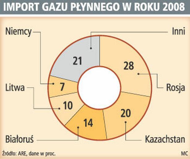 Import gazu płynnego w roku 2008