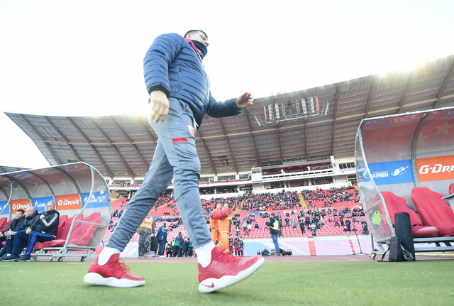 Vladan Milojević na meču FK Crvena zvezda - Čukarički