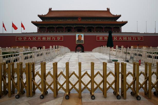 Plac Tiananmen w Pekinie, Chiny, 22.07.2016