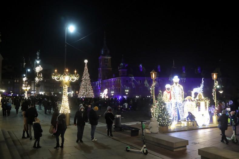 Inauguracja iluminacji świątecznej w Warszawie 1