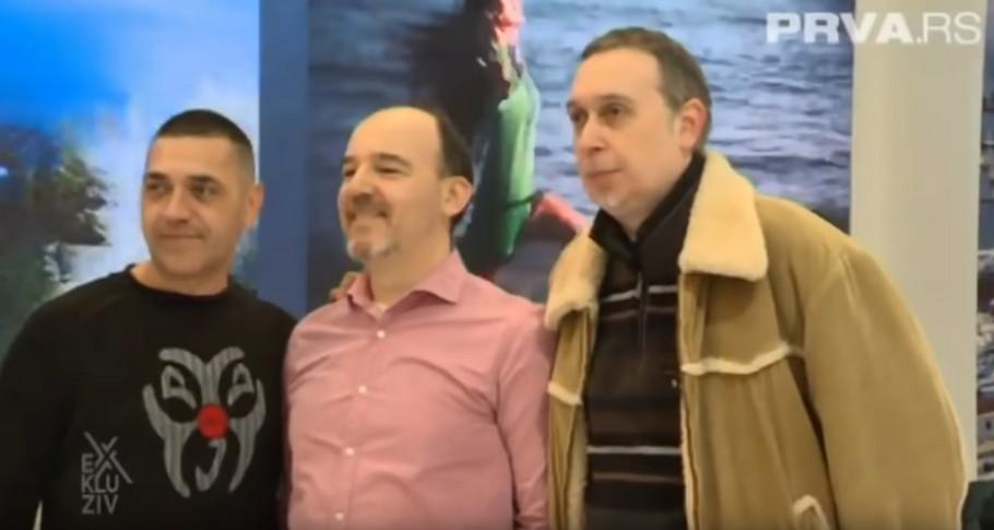Milan Bojanić, Đorđe Pajović i Petar Stupar, nekadašnji članovi grupe Tap 011