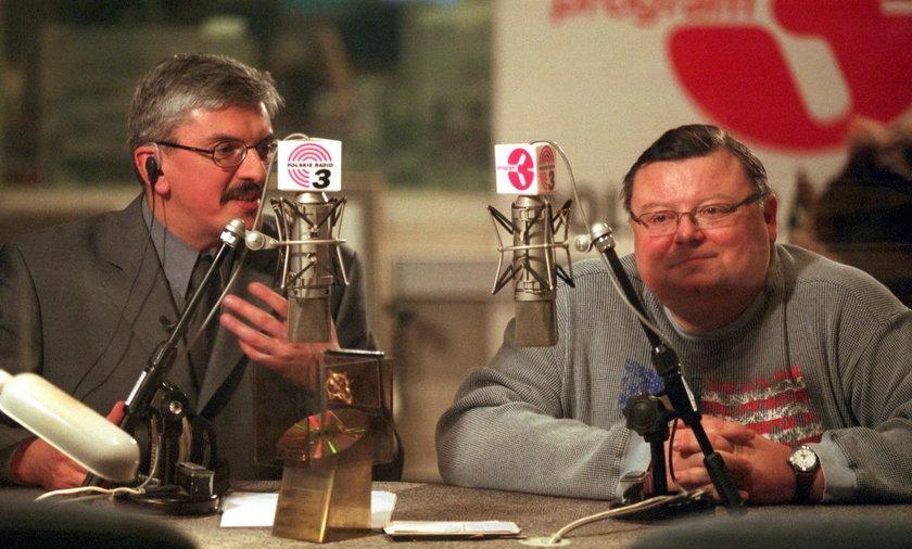 Marek Niedźwiecki  i Wojciech Mann w 2001 r.
