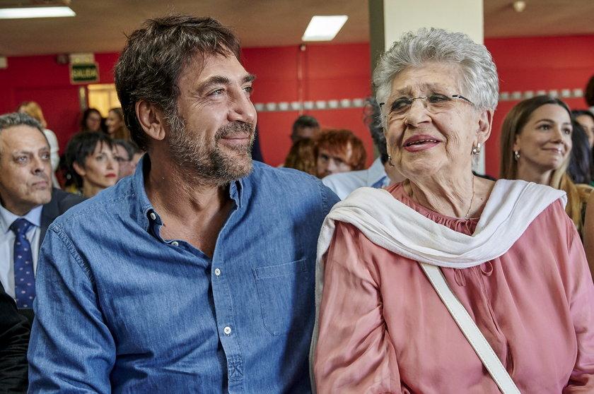 Pilar Bardem z synem Javierem