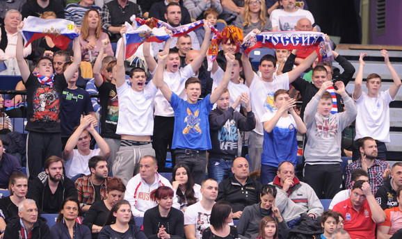 Navijači Rusije u Areni