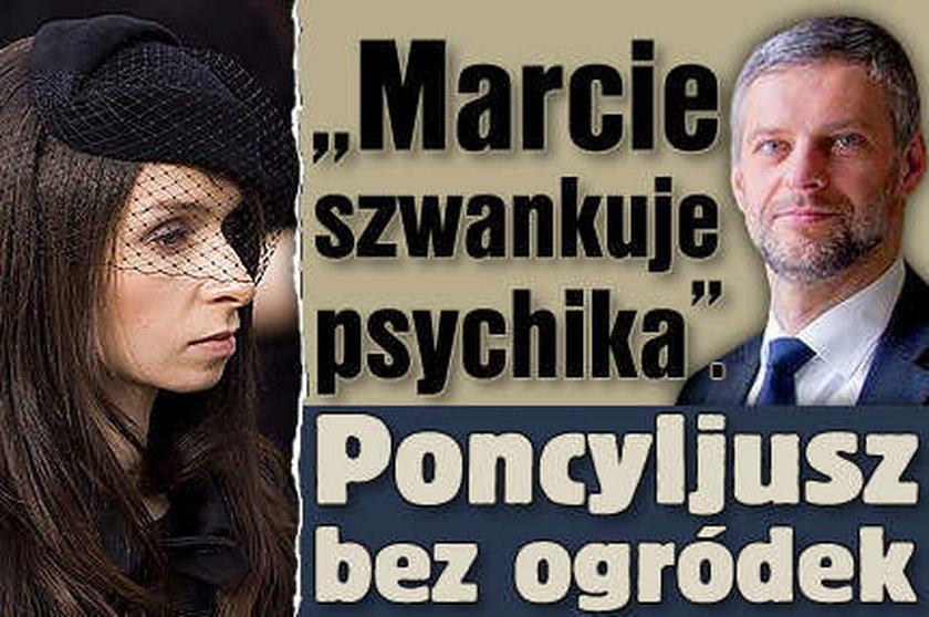 """""""Marcie szwankuje psychika"""". Poncyljusz ostro o Kaczyńskiej"""