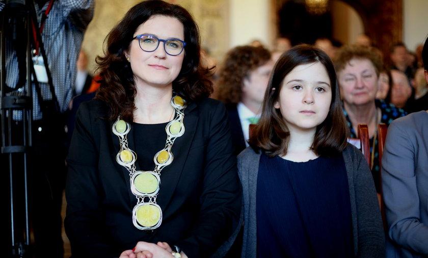 Aleksandra Dulkiewicz z córką Zosią