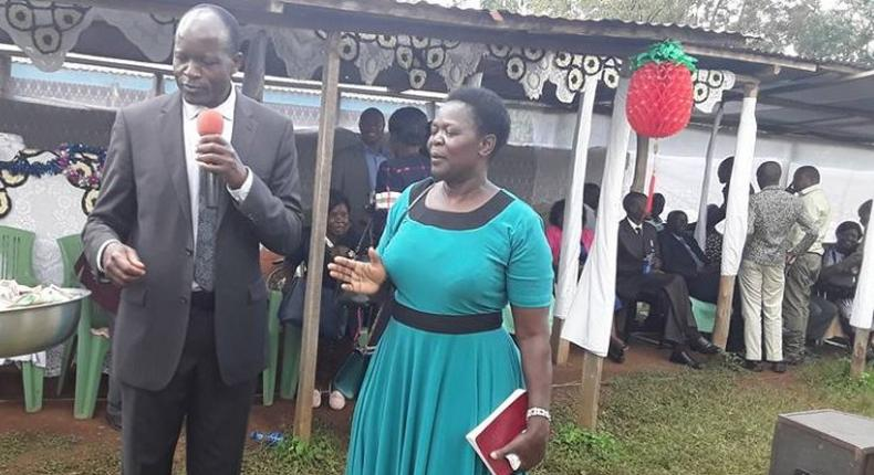 Hellen Obado and her husband Migori Governor Okoth Obado. Hellen issued a powerful message after the release of her husband on Wednesday from prison.