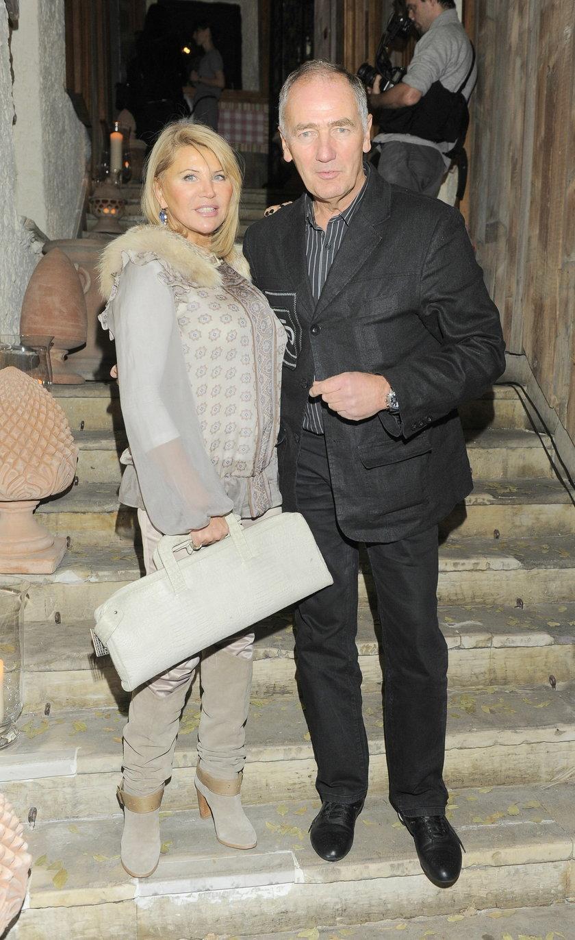 Karol Strasburger z żoną, Ireną