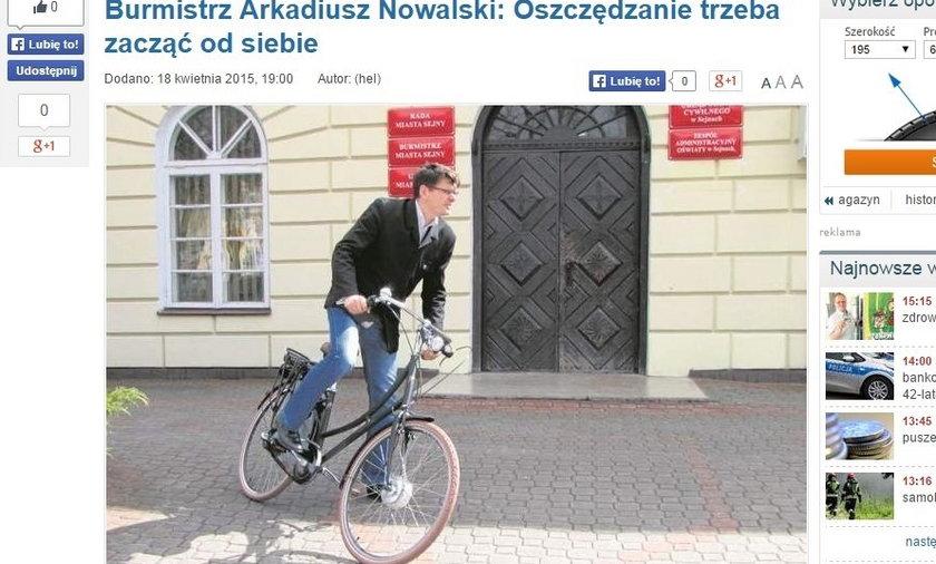 Burmistrz Arkadiusz Nowalski