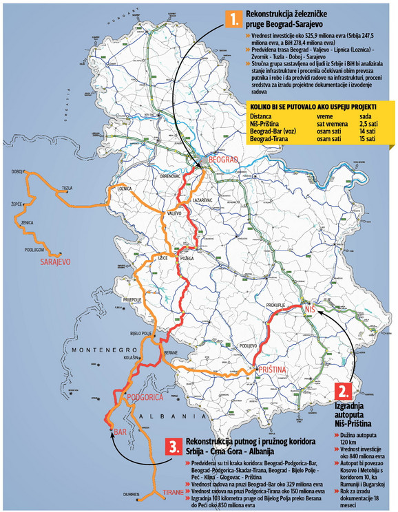mapa pruge beograd bar OTKRIVAMO Ovu mapu je Vučić pokazao Merkelovoj mapa pruge beograd bar