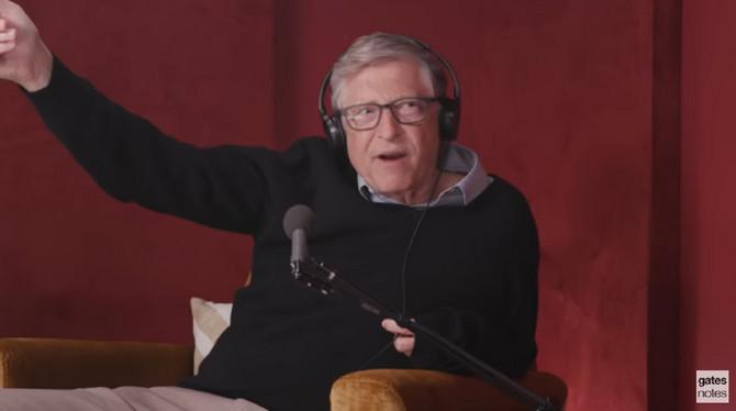 Bil Gejts u podkastu